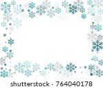 winter card border of snow... | Shutterstock .eps vector #764040178
