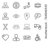 thin line icon set   hierarchy  ... | Shutterstock .eps vector #764046535