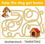 vector illustration of maze...   Shutterstock .eps vector #764047042