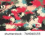 abstract art texture. colorful... | Shutterstock . vector #764060155