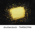 luxury golden gift card. golden ... | Shutterstock . vector #764061946