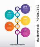 vertical timeline infographics. ... | Shutterstock .eps vector #764067592