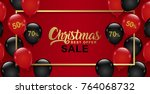 christmas sale banner template... | Shutterstock .eps vector #764068732
