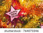 happy new year and christmas... | Shutterstock . vector #764073346