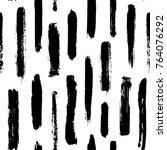 black and white dry oait brush... | Shutterstock .eps vector #764076292