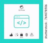 code editor icon | Shutterstock .eps vector #764078506