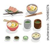 japanese food vector.   Shutterstock .eps vector #764080276