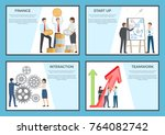 set of posters dedicated to... | Shutterstock .eps vector #764082742
