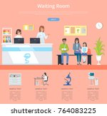 waiting room hospital service... | Shutterstock .eps vector #764083225