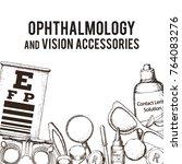 set of medical optometry... | Shutterstock .eps vector #764083276
