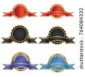 set of champion award medals... | Shutterstock .eps vector #764084332