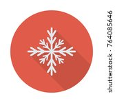 snowflake circle flat | Shutterstock .eps vector #764085646