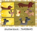 Hound Dogs Tags   Vector Eps8...