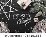 christmas card greeting cards ... | Shutterstock . vector #764101855