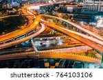 aerial view of the modern... | Shutterstock . vector #764103106