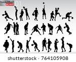 basketball big pack | Shutterstock .eps vector #764105908