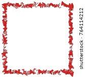 christmas toys frame | Shutterstock .eps vector #764114212