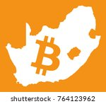 south africa map with bitcoin...   Shutterstock .eps vector #764123962