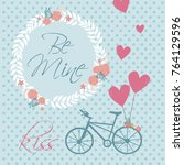 romantic card for save the date ... | Shutterstock .eps vector #764129596