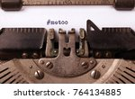 vintage inscription made by old ... | Shutterstock . vector #764134885