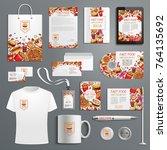 fast food restaurant or... | Shutterstock .eps vector #764135692