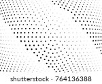 abstract halftone wave dotted... | Shutterstock .eps vector #764136388