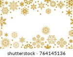 rich christmas background.... | Shutterstock .eps vector #764145136