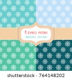 set of four christmas seamless... | Shutterstock .eps vector #764148202
