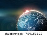 global internet. communication... | Shutterstock . vector #764151922