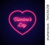 neon signboard in shape heart...   Shutterstock .eps vector #764156158