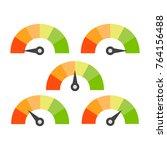 speedometer rating set | Shutterstock .eps vector #764156488