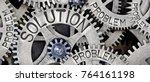 macro photo of tooth wheel... | Shutterstock . vector #764161198
