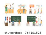 language course set of... | Shutterstock . vector #764161525