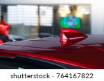 antenna shark fin white color... | Shutterstock . vector #764167822