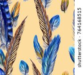 seamless pattern from bird...   Shutterstock . vector #764168515