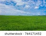 field freedom grass lawn  | Shutterstock . vector #764171452