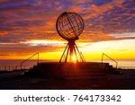 sunrise at north cape | Shutterstock . vector #764173342
