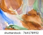 abstract artistic brown... | Shutterstock . vector #764178952