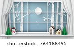 winter season and merry... | Shutterstock .eps vector #764188495