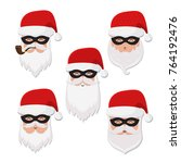 vector secret santa christmas... | Shutterstock .eps vector #764192476