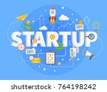 startup development composition ... | Shutterstock .eps vector #764198242