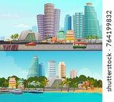 Miami Waterfront Houses Skylin...
