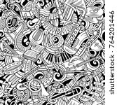 cartoon cute doodles classical... | Shutterstock .eps vector #764201446