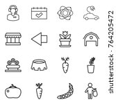 thin line icon set   call... | Shutterstock .eps vector #764205472