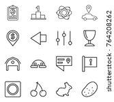 thin line icon set   report ... | Shutterstock .eps vector #764208262