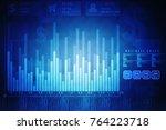 3d rendering stock market... | Shutterstock . vector #764223718