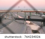 a view of the vehicular border... | Shutterstock . vector #764234026