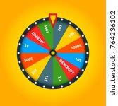 color fortune wheel. vector... | Shutterstock .eps vector #764236102