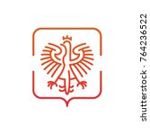 stylized emblem of the polish... | Shutterstock .eps vector #764236522