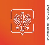 stylized emblem of the polish... | Shutterstock .eps vector #764236525